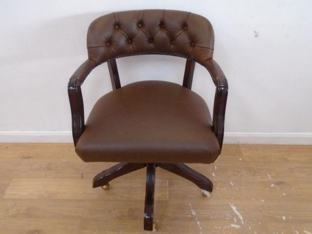Laura Ashley Franklin Office Chair In Leather Qa0905181464