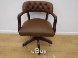 Laura Ashley Franklin Office Chair In Sorrel Leather QA1210172359