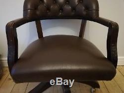 Laura Ashley Franklin Office Dark Chestnut Leather Chair