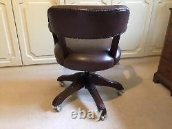 Laura Ashley Franklin Wood & Leather Office Chair