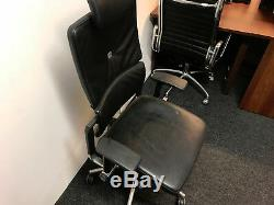 Leather Black Chair Steelcase Please Chair