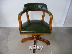 Leather Captains Swivel Office Chair