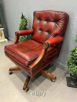 Leather Chesterfield Captains Chair Office Chair Barker Stonehouse Swivel Chair