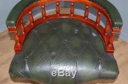 Leather Chesterfield Captains Height Adjustable Swivel Tilt Tub Office Chair