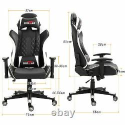 Leather Executive Gaming Chair Office Computer Desk Chair Racing Swivel Recliner