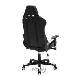 Leather Gaming Racing Chair Home Office Recliner Computer Desk Chair Swivel Lift
