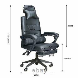 Leather Gaming Racing Chair Home Office Recliner Swivel Lift Computer Desk Chair