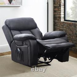Leather Heated Massage Single Sofa Upholstered Armchair Office Recling Chair New