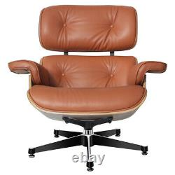 Leather LEISURE CHAIR Armchair Lounge Chair with Ottoman Home Office UK