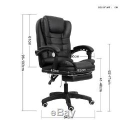Leather Massage Computer Chair Office Gaming Chair Swivel 360 Recliner Sofa UK