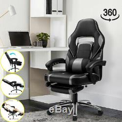 Leather Office Chair Computer Desk Executive Racing Gaming Chair Swivel Recliner