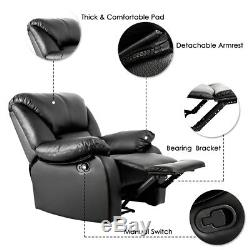 Leather Recliner Armchair Sofa Extremely Comfortable Home/office Lounge Chair