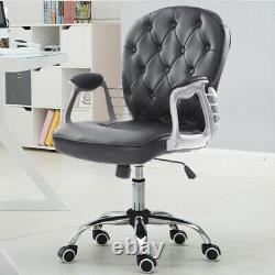 Leather/Velvet Executive Office Chair Swivel Study Computer Desk Chair Gas Lift