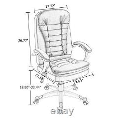 Luxury Computer Office Desk Chair PU Leather High Back Swivel Adjustable Chairs