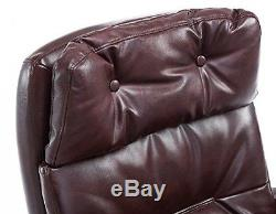 Luxury Executive Antique Manager Brown Chesterfield Office Chair PU Leather