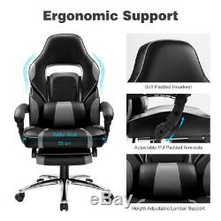 Luxury Executive Computer Chair Office Desk Chair Racing Gaming Swivel Leather