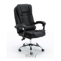 Luxury Executive Computer Chair Office Gaming Swivel Recliner PULeather UK Stock