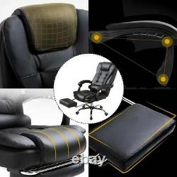 Luxury Massage Computer Chair Office Gaming Swivel Recliner Leather Executive