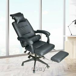 Luxury Massage Computer Chair Office Gaming Swivel Recliner PU Leather Executive