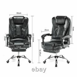 Luxury Massage Office Chair Computer Gaming Swivel Recliner Leather Executive