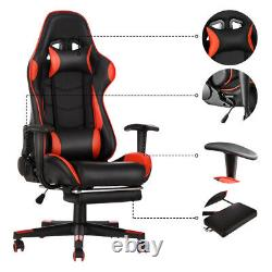 Luxury Office Chair Swivel Recliner Gaming Computer Home Desk Chair PU Leather