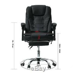 Luxury Office Computer Massage Chair Gaming Swivel Recliner Leather Executive