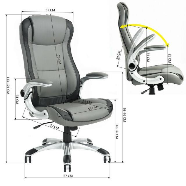 Luxury Pu Leather Swivel Reclining Office Rocking Executive Computer Chairs