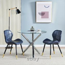 Luxury Set of 2 PU Leather Dining Side Chairs Lounge Dining Room Kitchen Office