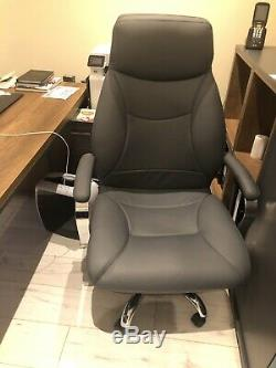 Luxury Turkish Leather High Back Executive Office Chair Black