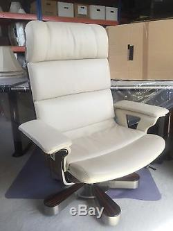 Luxury White Leather Office Chairs