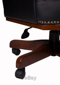 Managers Directors Antique Style Bonded Leather Office Swivel Desk Chair