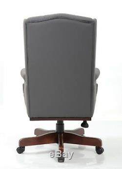 Managers Directors Queen Ann Antique Style Pu Leather Office Desk Chair