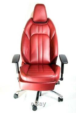 Maserati Red Leather Car Seat Luxury Office Chair(not Herman Miller Eames)