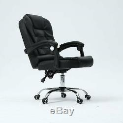 Massage Computer Chair Office Gaming Swivel Recliner Leather Executive Desk V2