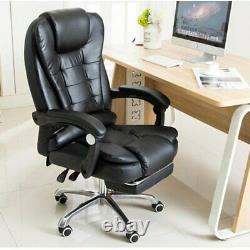 Massage Executive Office Chair Gaming Computer Desk Footrest Recliner Leather UK