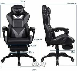 Massage Gaming Chair Home Office Chair Computer High Back Swivel withFootrest