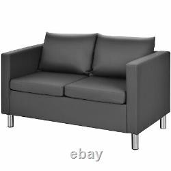 Modern Double Seat Sofa Loveseat 2 Seater Chair Sofa Couch Lounge Home Office