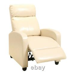 Modern Leather Manual Recliner Sofa Armchair Lounge Reclining Chair Home Office