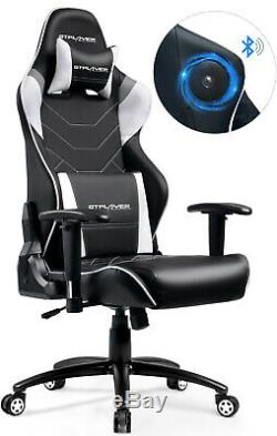 Music Gaming Chair with Bluetooth Speakers Audio Racing Chair Multi-Function
