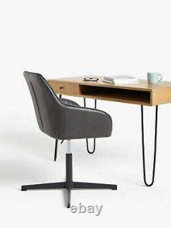 New Brooks Leather Office Chair, Charcoal John Lewis & Partners RRP £179