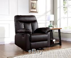 New Luxury Deluxe Nero Black or Brown Home Office Study Gaming Recliner Chair