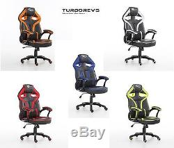 New Morpheus Racing Bucket Gaming Computer Desk Office Chair Faux Leather