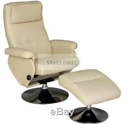New Pu Leather Executive Recliner Chair W Foot Stool Arm Chair Home Office K1815