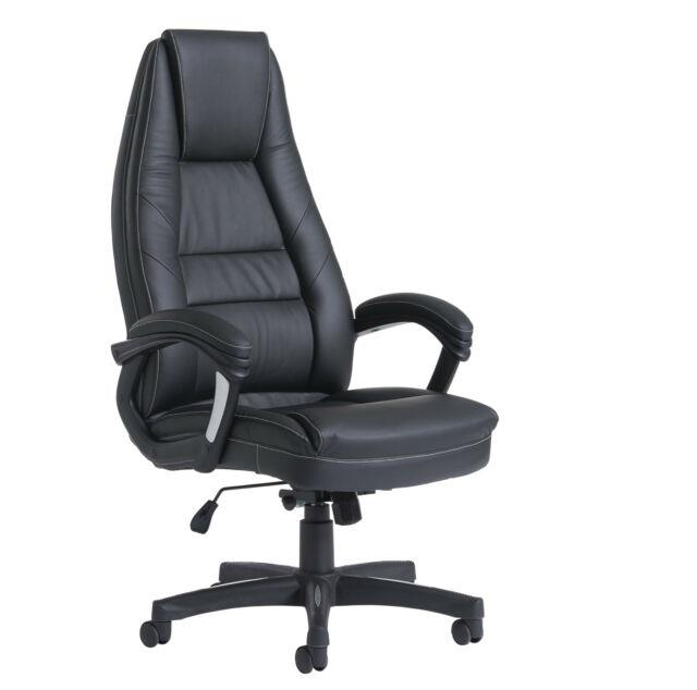 Noble Executive Managers Chair High Back Bonded Leather Managers Chair Black
