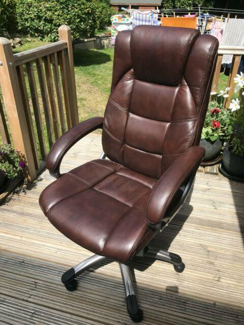Northland Brown Leather Executive Home Office Chair