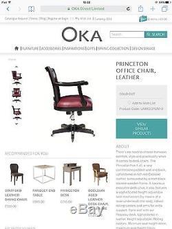 OKA Princeton Office Chair, Leather