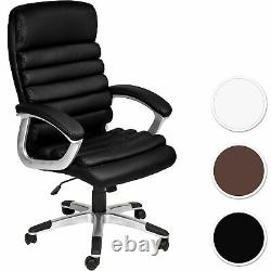 Office Chair Ergonomic Seating Furniture Artificial Leather Thick Padding Wheels