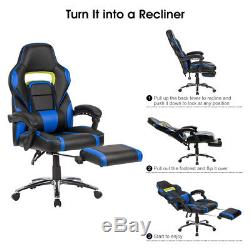 Office Chair Executive Racing Gaming Swivel Faux Leather Sport Computer Desk Uk