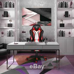 Office Chair Executive Racing Gaming Swivel Sport Computer Desk PU Leather Red