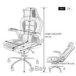 Office Chairs High Back PU Leather Executive Office Desk Task Computer Chair New